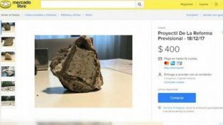 Venden las piedras usadas en los incidentes durante la Reforma Previsional