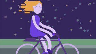 Noche femiclista: invitan a pedalear como una piba