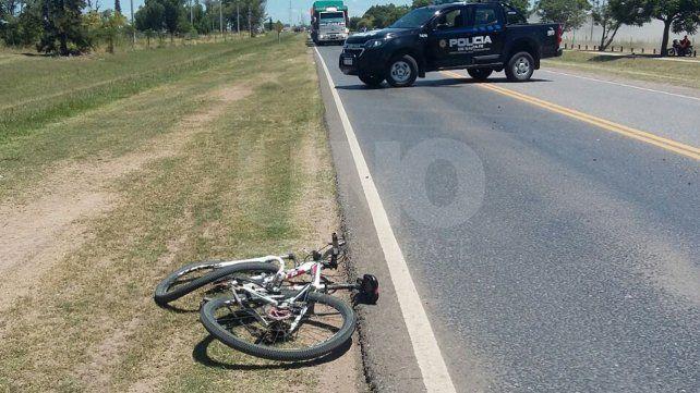 San Guillermo: un automóvil embistió a una bicicleta y murió el ciclista