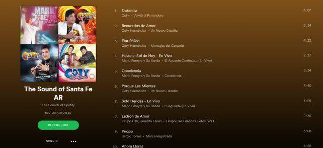 Las 100 canciones más escuchadas por los santafesinos en el 2017