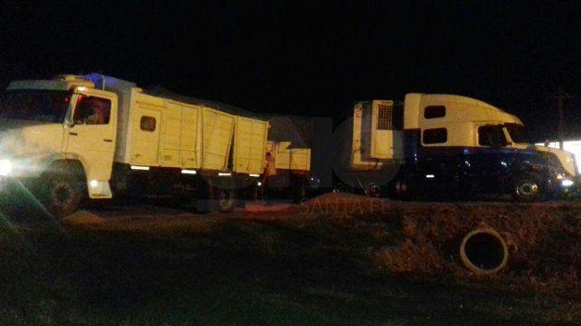 Violento choque de camiones en la ruta 34