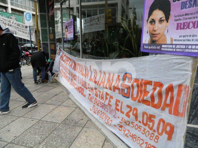 El lugar. En 25 de Mayo y Suipacha la joven de 29 años fue vista por última vez en 2009.