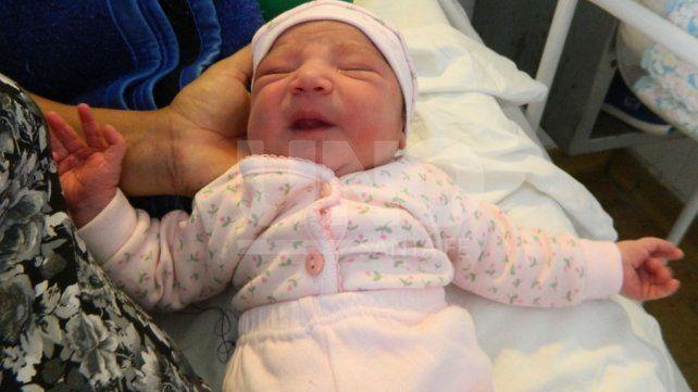 Mahiumi es la primera beba de 2018 que nació en la ciudad de Santa Fe