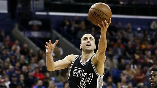 Ginóbili, un triple insólito y 12 puntos en la victoria de los Spurs