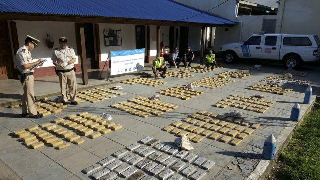 Narcotráfico: incautación récord de cocaína durante 2017 en todo el país