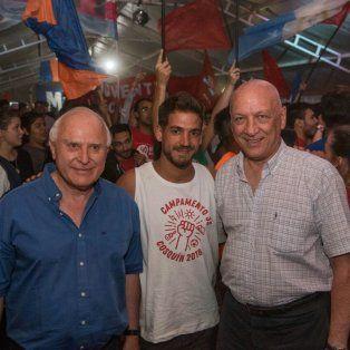 Aquí Cosquín. Lifschitz y Bonfatti conMarcial Sorazabal, secretario general de las Juventudes Socialistas del país.