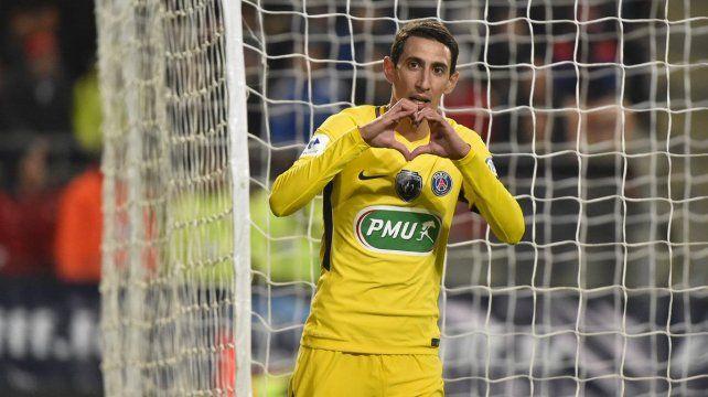 El PSG aplastó a Rennes con dos goles de Di María