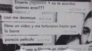 Salieron a la luz chats de WhatsApp donde Fernando habla de la violencia de Nahir