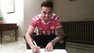 Rodrigo Droopy Gómez firmó su contrato con Unión