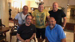 Santafesinos en Mardel. Corral con los Midachi y el diputado provincial Raúl Fernández.