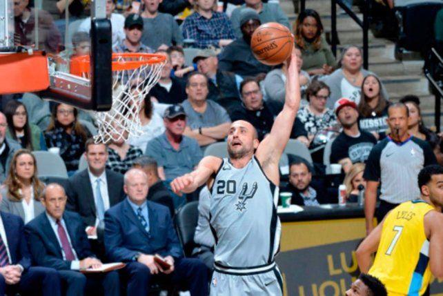 ¡Otra noche soñada! La NBA se rindió ante la volcada de Manu Ginóbili