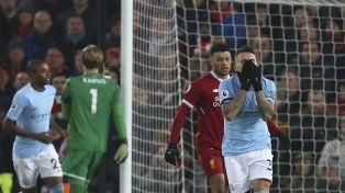 El City perdió el invicto ante Liverpool con Sampaoli en la platea