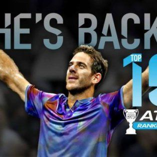 del potro regreso al top ten del ranking mundial