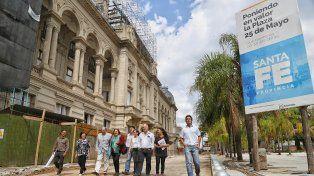 Las obras de la plaza 25 de Mayo de la ciudad capital tienen un 78% de avance