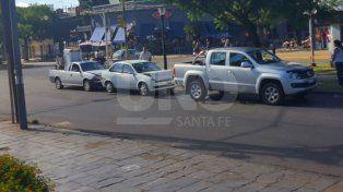 Choque en cadena en barrio Mariano Comas