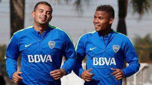 Cardona y Barrios volverán a entrenar con Boca y podrían jugar ante Colón