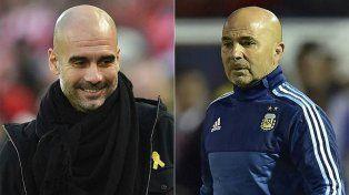 Cumbre entre Sampaoli y Guardiola en Manchester