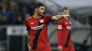 ¡Encendió la Pipa! Lucas Alario se despachó con un doblete en el triunfo del Bayer Leverkusen