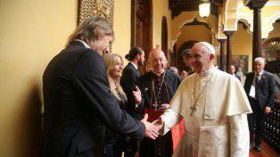 El encuentro entre el papa Francisco y Ricardo Gareca en Perú