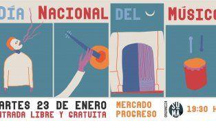 El Día Nacional del Músico se festeja en el Mercado Progreso
