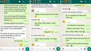 La divertida conversación en WhatsApp entre un novio celoso y quien encontró el celular de la novia