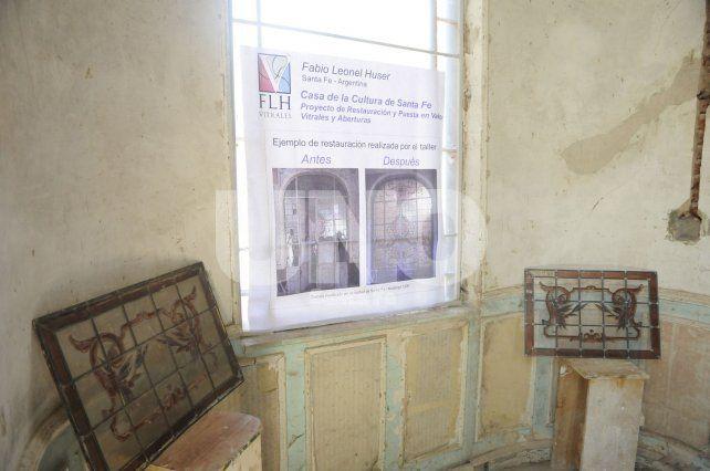 Restauración de Vitrales. Fotografía José Busiemi