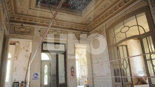 Interior del edificio - Planta baja. Fotografía José Busiemi