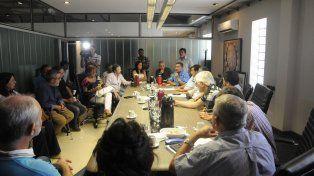 Reunión. Los referentes del Movimiento Obrero Santafesino se encontraron en la sede de Festram.