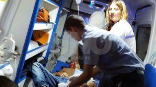 Abatido. Alarcón fue trasladado hacia el hospital Cullen.