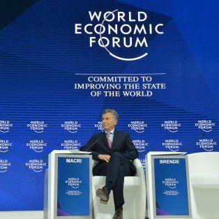 Exposición. Antes del encuentro con empresarios franceses, Macridisertó en Davos.