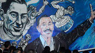 Mural inaugurado en la sede del PJ cuando se cumplió un año de su fallecimiento