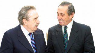 Obeid junto al expresidente Raúl Alfonsín en el año 2006