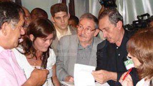 Obeid con Raúl Castro en uno de sus viajes a Cuba