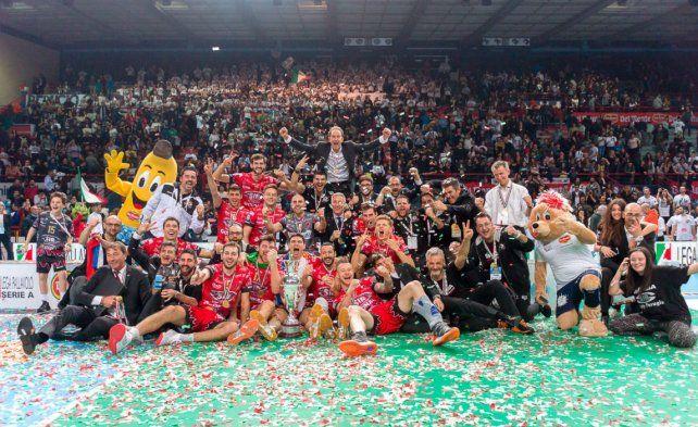 Con un determinante Luciano De Cecco, Perugia ganó por primera vez la Copa Italia
