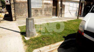 La zona. El lugar donde fue asesinada la víctima en barrio San Lorenzo.