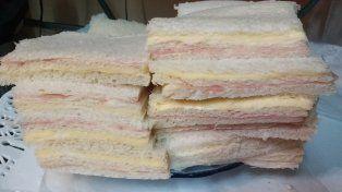 La Assal prohibió un sandwich de miga de jamón y queso