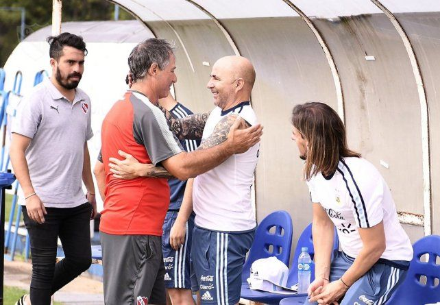 Sampaoli presenció el entrenamiento de Independiente