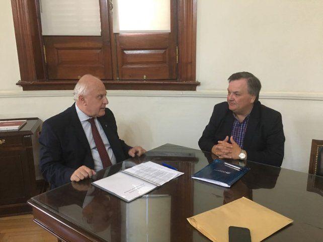 Encuentro. Lifschitz y Michlig se reunieron este miércoles en Casa de Gobierno.