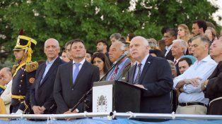 Lifschitz encabezó los actos por el 205° aniversario del Combate de San Lorenzo