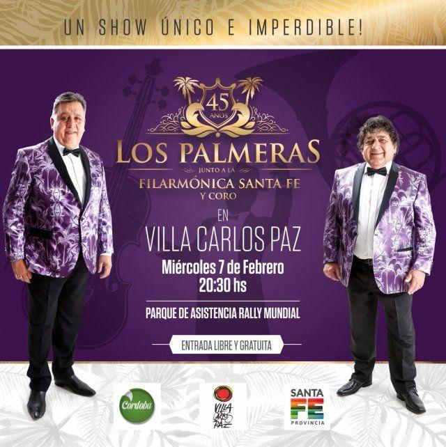 Orgullo santafesino: ya tiene fecha el show de Los Palmeras y la Filarmónica frente al Obelisco