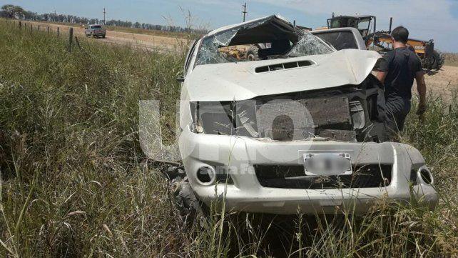 Murió el conductor de una camioneta que volcó en la ruta provincial Nº 61