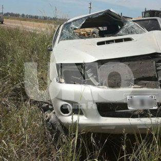 murio el conductor de una camioneta que volco en la ruta provincial nº 61