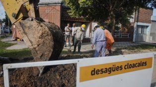 Se retomarán las obras de cloacas en Barranquitas y Villa del Parque