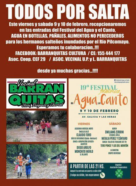 Santa Fe junta donaciones para los afectados por la crecida del Pilcomayo
