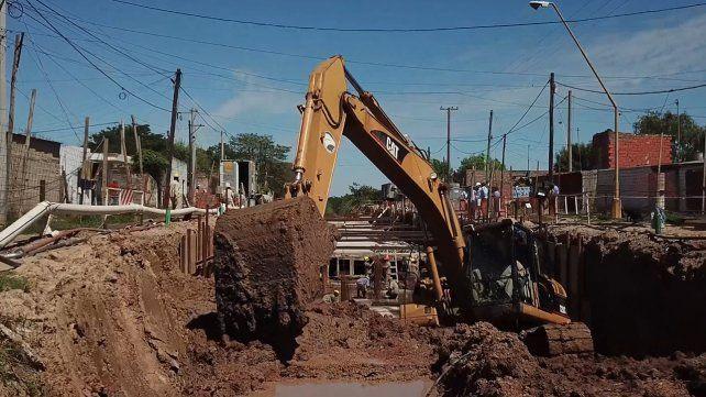 Está en marcha la construcción del Colector Principal Gorriti