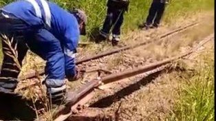 En San Justo el calor levantó las vías del ferrocarril