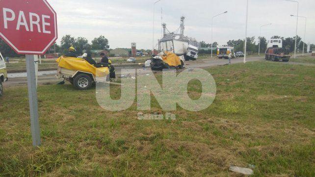 Por la mañana. El siniestro ocurrió pasadas las 9 en el cruce de la ruta nacional 34 y la provincial 65.
