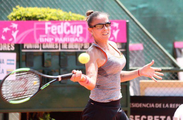 Fed Cup: La santafesina Ormaechea le dio el primer punto a la Argentina