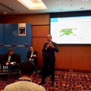 Exposición. Corral disertóen el panel de Fortalecimiento de Resiliencia, convocado por el Banco Mundial.