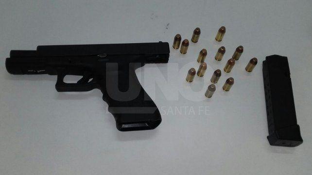 Luego de una persecución detuvieron a un joven armado en Barranquitas
